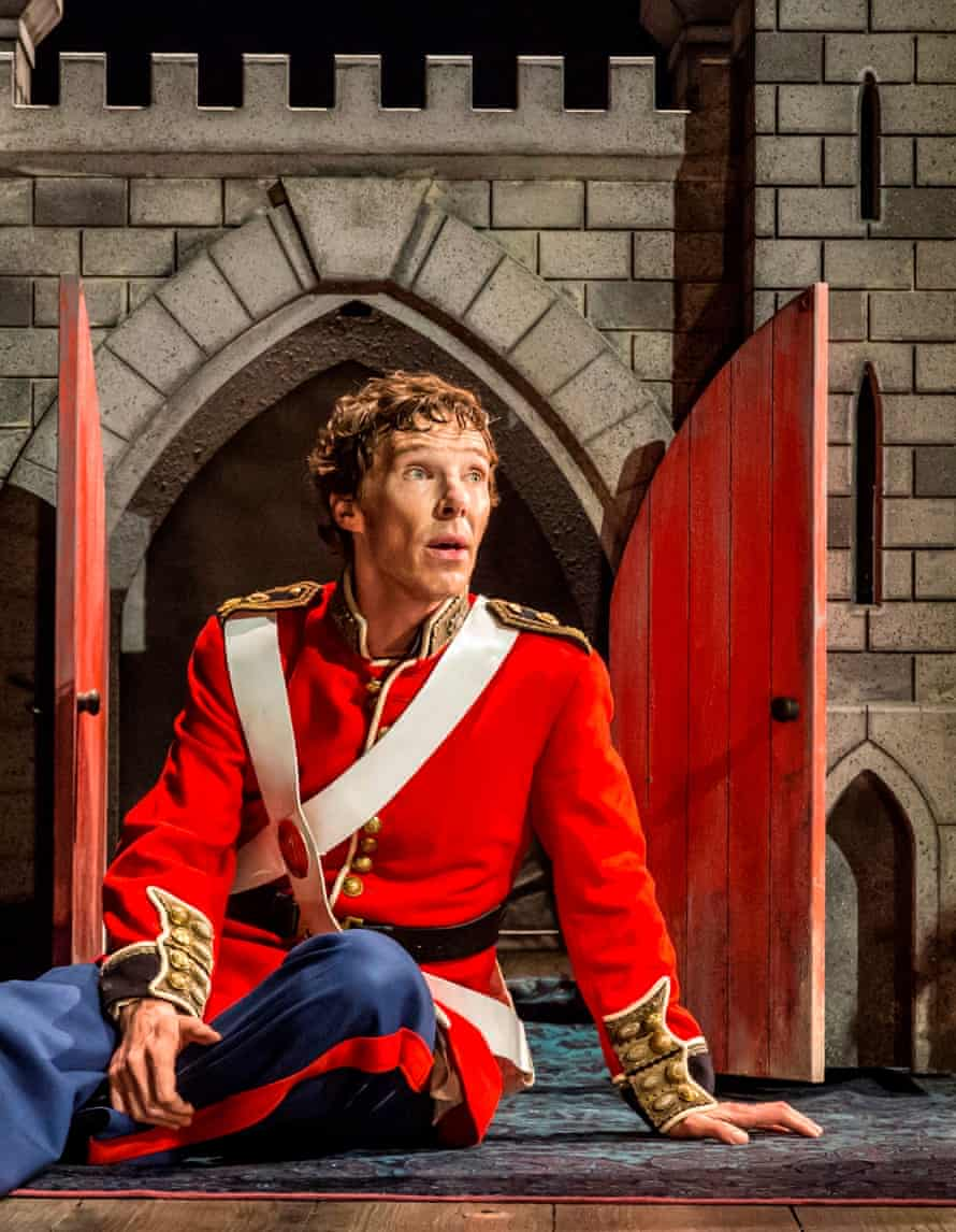 An antic disposition … Benedict Cumberbatch as Hamlet at the Barbican, London.