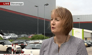 Harriet Harman speaking after her meeting with the leadership candidates