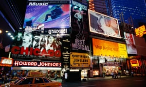 Times Square, New York: the heightened stimuli of busy city streets can cause 'cognitive load'.