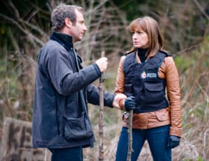 Robson Green and Simone Lahbib in the ITV adaptation of Val McDermid's Tony Hill/Carol Jordan novel Wire in the Blood.