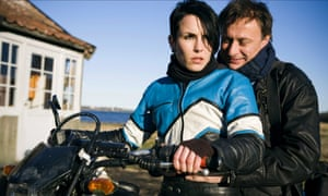 Noomi Rapace and Michael Nyqvist in The Girl With the Dragon Tattoo film,