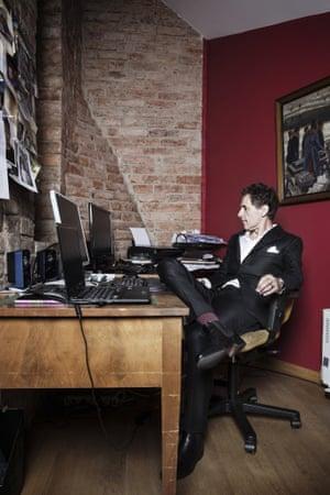 David Lagercrantz in his office