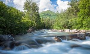 Stream in the Talkeetna mountains, Alska.
