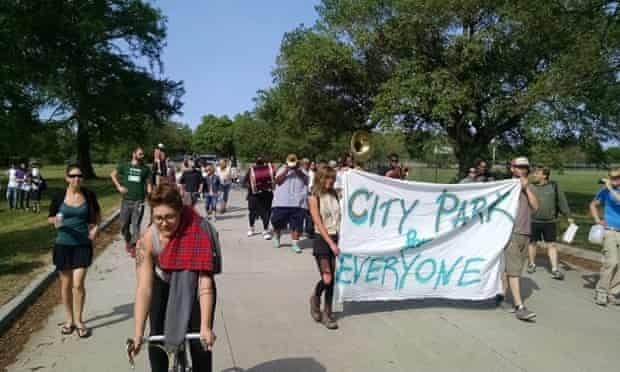 The coalition City Park for Everyone has filed a lawsuit in protest at plans for a new golf course.