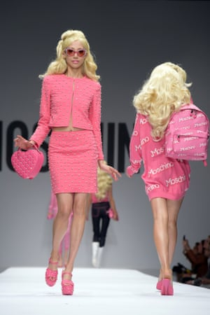 Moschino's spring/summer 2015 catwalk show was all about Barbie.