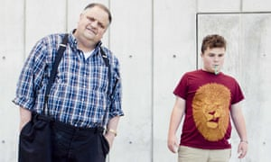 The writer Steve Silberman and Leo Rosa, 14, who has autism and likes to calm himself with green straws from Starbucks.
