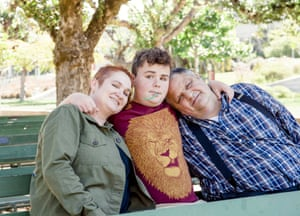 Steve Silberman (right) with Leo Rosa, and Leo's mother, Shannon.