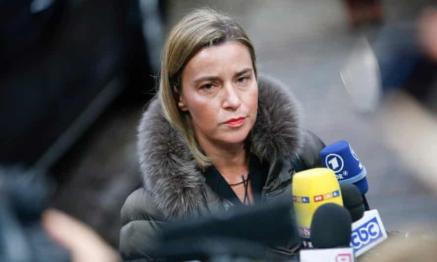 Federica Mogherini announced a 'landmark' deal between Serbia and Kosovo.