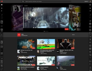 YouTube Gaming's website is available globally, with live streams prominent.