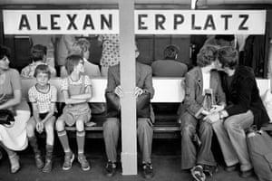 Train platform, Alexanderplatz, Mitte, Berlin, East Germany, 1980