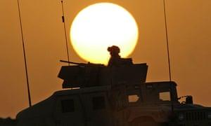 A US military humvee on patrol in al-Anbar province, Iraq, in June 2006.
