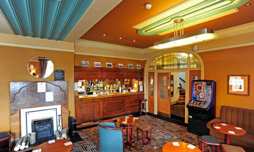 A heady Art Deco brew … The lounge bar at the Berkeley Hotel, Scunthorpe, built in 1940.