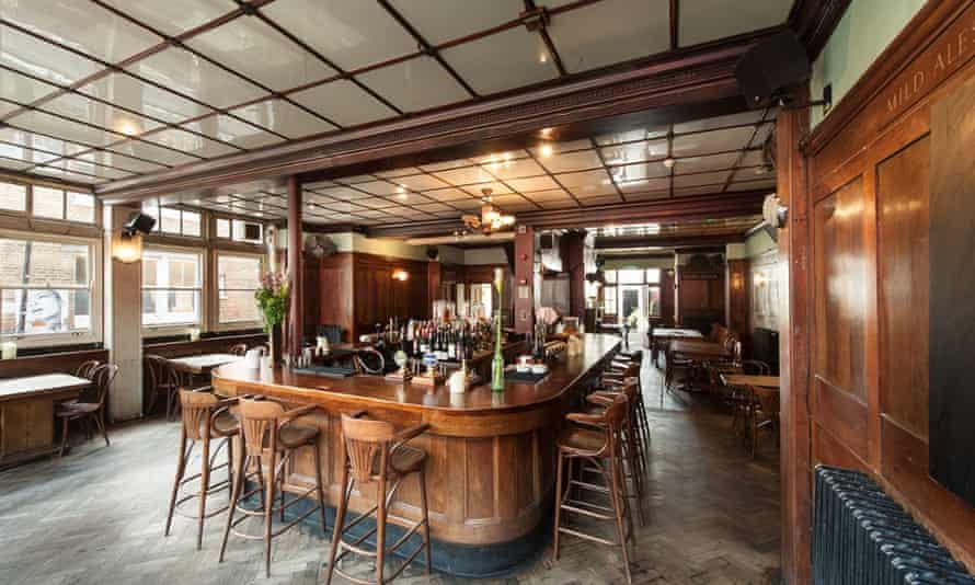 Hipster hangout … the Royal Oak in Hoxton still has its Vitrolite ceiling panels, dating back to1923.