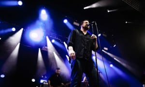 Back from the brink: John Grant on stage at Roskilde Festival in Denmark.