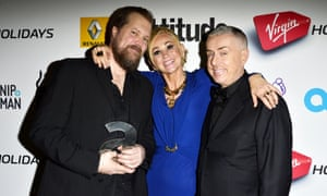 Good company: with Amanda Wills and Holly Johnson at the Attitude Magazine Awards in London.