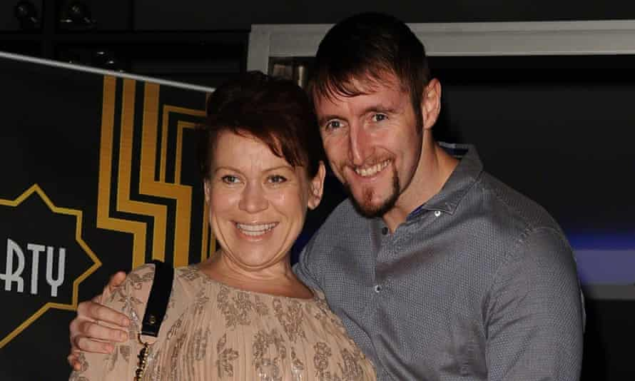 Tina Malone with her partner Paul Chase. She became a mother at 50. Her first daughter was born when she was 17.