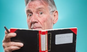 Michael Palin with one of his diary notebooks.