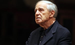 Pierre Boulez rehearses with the Vienna Philharmonich Orchestra on 16 March 2010 in Vienna