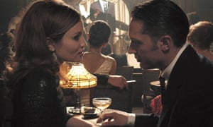 Emily Browning as Frances with Tom Hardy as her on-screen husband Reggie Kray in Legend.