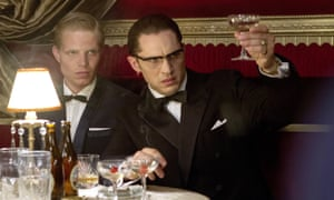 Charley Palmer Rothwell as Leslie Holt and Tom Hardy as Ronnie Kray in Legend.