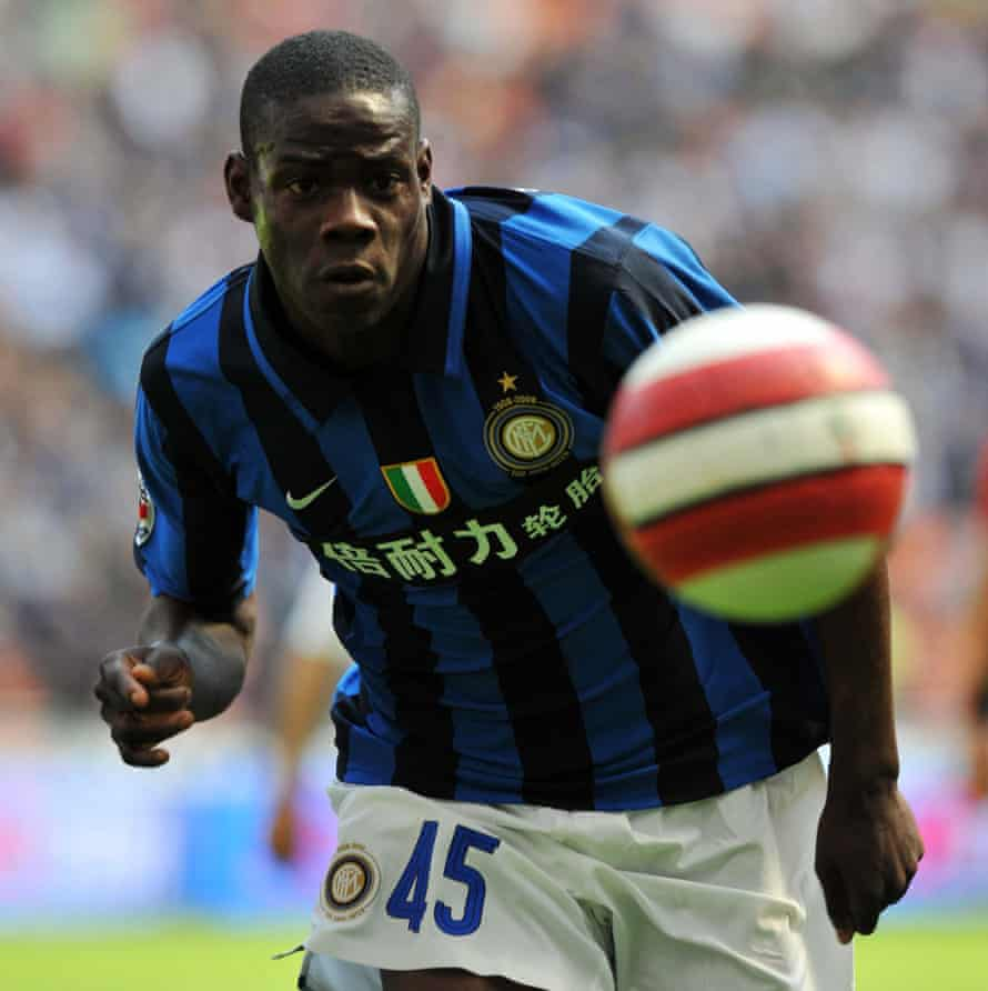 Mario Balotelli's simple crop in spring 2008, after he had joined Inter Milan