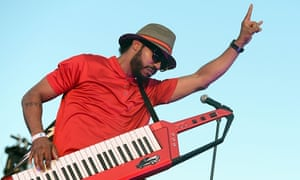 Bringing funky back: Dam-Funk performs onstage at the Santa Monica Pier.
