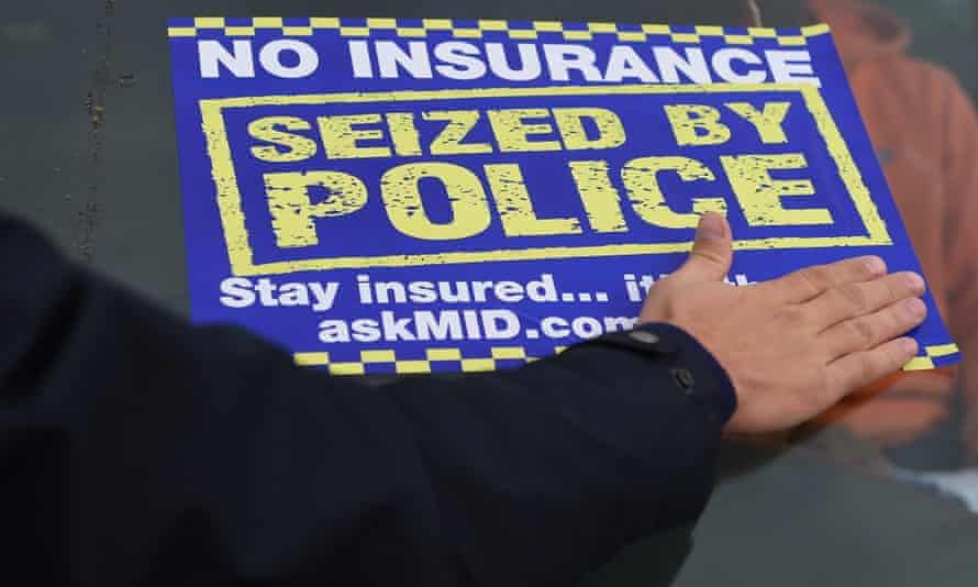 An uninsured car is seized by police