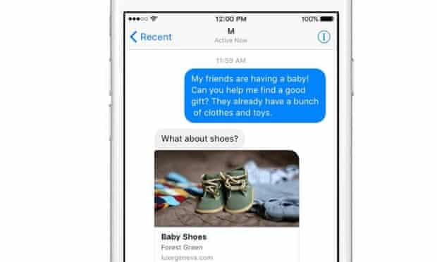 Facebook M will work within the social network's Messenger app.