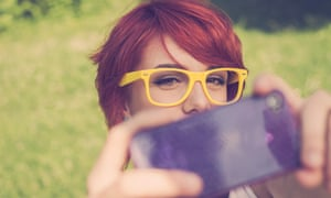 Young girl taking a selfie