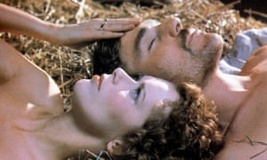 Sylvia Kristel and Nicholas Clay as Lady Chatterley and Mellors in the 1981 film of Lady Chatterley's Lover.