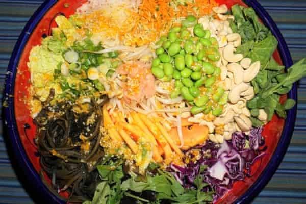 Technicolor: Suzanne Anderegg's pic of her raw super salad.