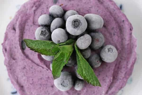 TheWholeIngredient's lush pic of her blueberry lemon cheesecake