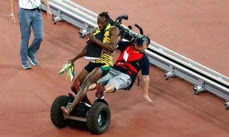 Segway cameraman who floored Usain Bolt says he is ready to get back to work   Usain Bolt   The Guardian