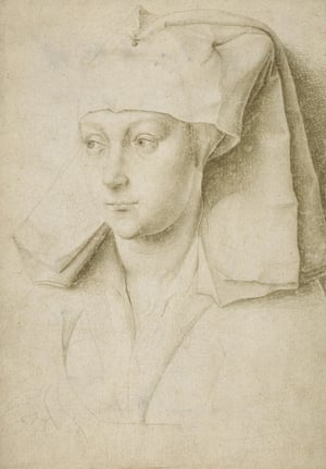 Rogier van der Weyden's portrait of a young woman, c1430.