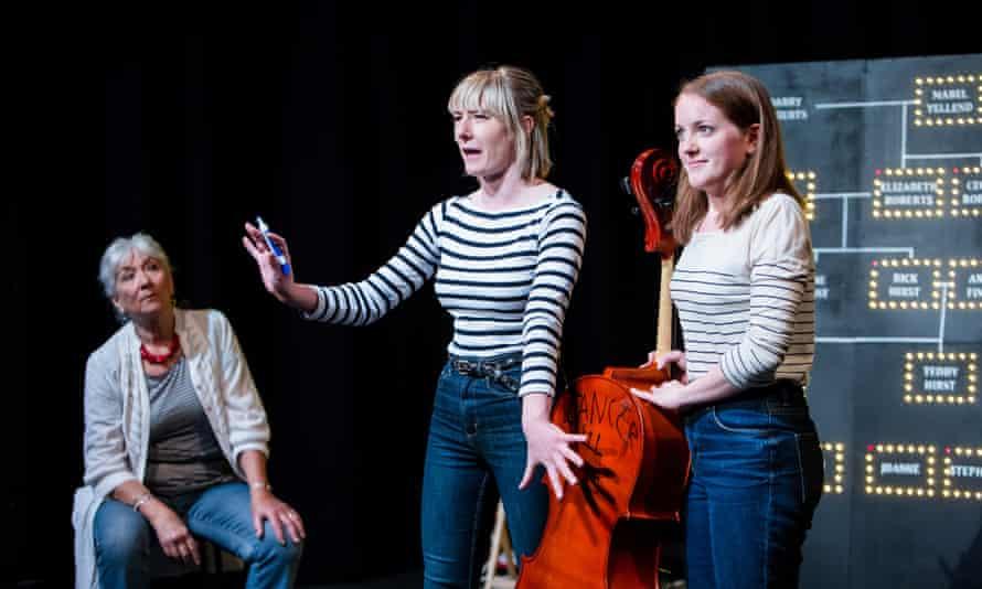 Olivia Hurst, centre, with Illona Linthwaite and Rianna Dearden in Goodstock.