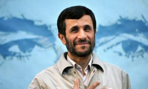 Even the US let this guy in … former Iranian president Mahmoud Ahmadinejad.