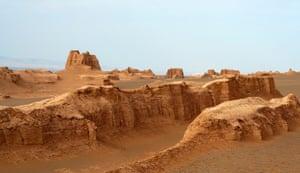 The Dasht-e Lut desert.