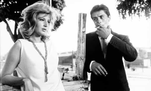 Monica Vitti and Alain Delon.