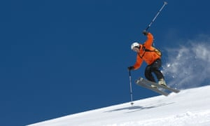 Skiiing in the Alborz mountains.