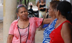 Maria do Socorro Teixeira Lima (in pink on the left): A new map of babassu in north-east Brazil 'gives us a chance to prove we exist.'