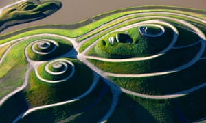 Follow the contours … Northumberlandia, a sculpture of a woman, which can only be seen in its entirety from the head.
