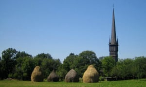One of the wooden churches, for which the Maramures region of Romania is famous.