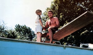 Burt Lancaster in the 1968 film of The Swimmer.