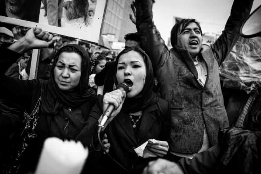 A protest in Kabul, following the murder of Farkhunda Malikzada.