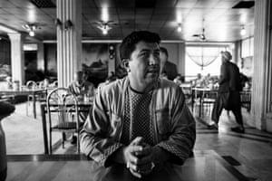 Arab Shah, in his favourite restaurant in Kabul.