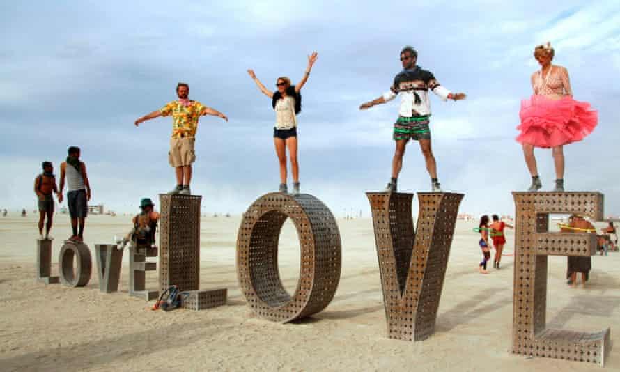 Last year's Burning Man festival, Nevada.