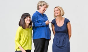'We want to, as far as we can, try to get it right' … left to right, founders of the Women's Equality party Catherine Mayer and Sandi Toksvig, with new leader Sophie Walker. Pictured at Central Saint Martins.