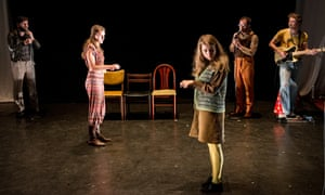 Wardrobe Ensemble performs on stage '1972    The Future of Sex'  Pleasance on August 5, 2015