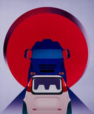 John Naughton column for Observer New Review Illustration by Matt Murphy . Google car