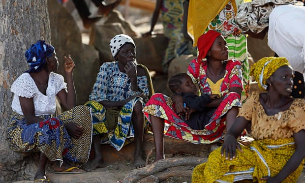 Women displaced as a result of Boko Haram attacks in Nigeria
